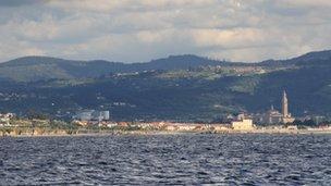 Gijon harbour