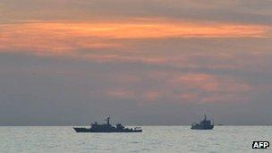 File photo: Chinese ships at Scarborough Shoal