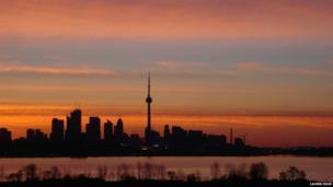 Lake Ontario and the Toronto skyline