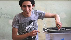 Young voter in Cairo
