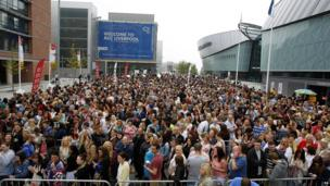 The X Factor auditions in Liverpool - crowds