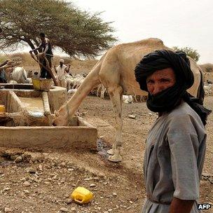Bedouin around well