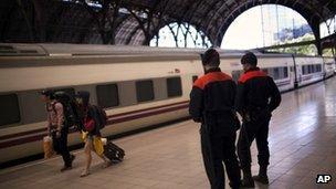 Train in Barcelona