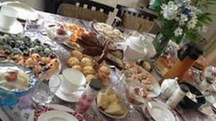 Traditional British afternoon tea