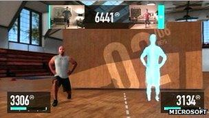 Nike Plus Kinect Training screenshot