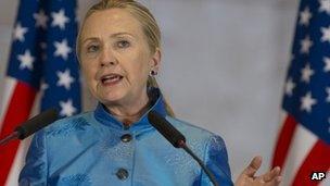 Hillary Clinton in Yerevan. Photo: 4 June 2012