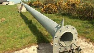 Lowered turbine