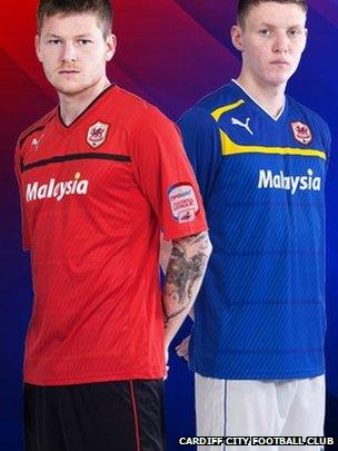 Cardiff City Fc Confirm Rebranding With New Red Shirts Bbc News