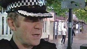 David Ainsworth on patrol in Swindon