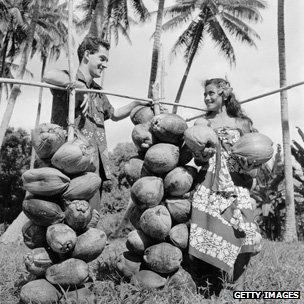 Canadian Mormon missionary in Tahiti, 1955