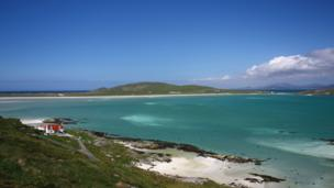View of Traigh Mor on the Isle of Barra