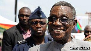 Ghanaian President John Atta Mills