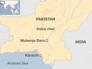 Delightful Map Of Pakistan Locating Mohenjo Daro
