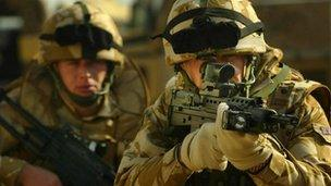 Scottish soldiers in Basra