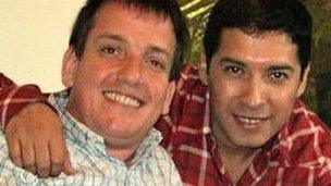 Pablo Capellaro (l) and Marcel Deza