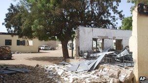 Bombed primary school in Damaturu - 22 June