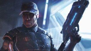 Mass Effect 3 character art