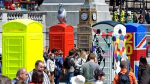The launch of Artbox at Trafalgar Square in London.