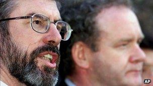 Gerry Adams and Martin McGuinness in 1999