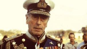 Lord Mountbatten in 1976