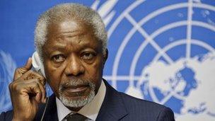 UN and Arab League Special Envoy for Syria Kofi Annan (22 June 2012