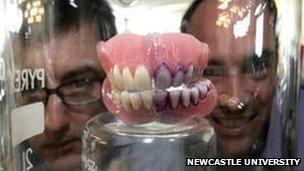 teeth showing plaque