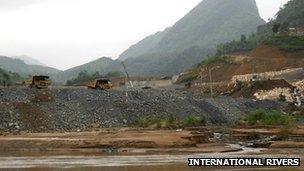 Damming of the Mekong River in Laos