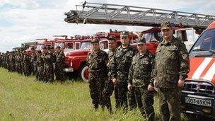 Firefighters in Chernobyl