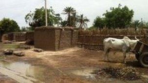 Simple rural village in northern Nigeria