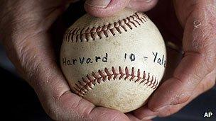 Baseball from a Harvard Yale game in 1959