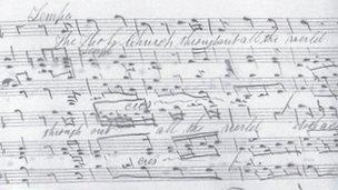 Manuscript of Te Deum
