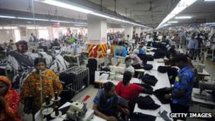Garment factory in Ashulia, Bangladesh