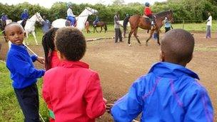 Children learning to ride Photo: Peter Njoroge