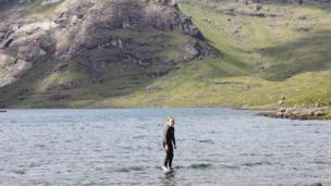 Boy at Loch Coruisk