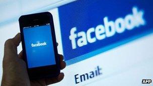 Facebook app and homepage