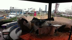 The BBC studio at the Olympic Park