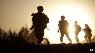 US Marines in Helmand Province, Afghanistan, October 2009