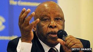 Botswanan former premier Festus Mogae