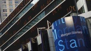 Morgan Stanley bank sees revenues fall sharply - BBC News