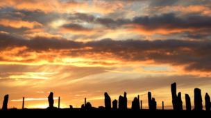 Sunset over Callanish