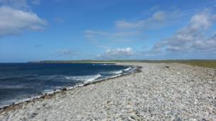 Stony beach on the Isle of Lewis