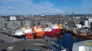 Boats in Aberdeen harbour
