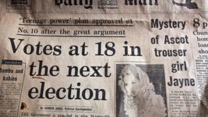 Copi o'r Daily Mail o 1968