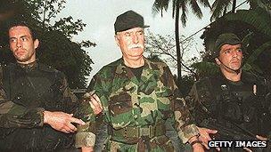 Veteran mercenary Bob Denard under arrest