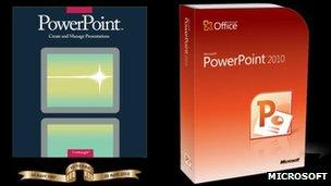 PowerPoint software boxes