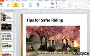 PowerPoint 2010 screenshot