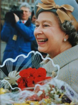 Y Frenhines yn Sir Efrog ym mis Mawrth 1992