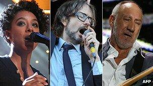 Corinne Bailey Rae, Jarvis Cocker and Pete Townshend