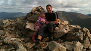 Skye and Kenny on Buachaille Etive Mor