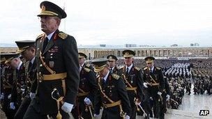Turkish officers in Ankara, 29 Oct 10